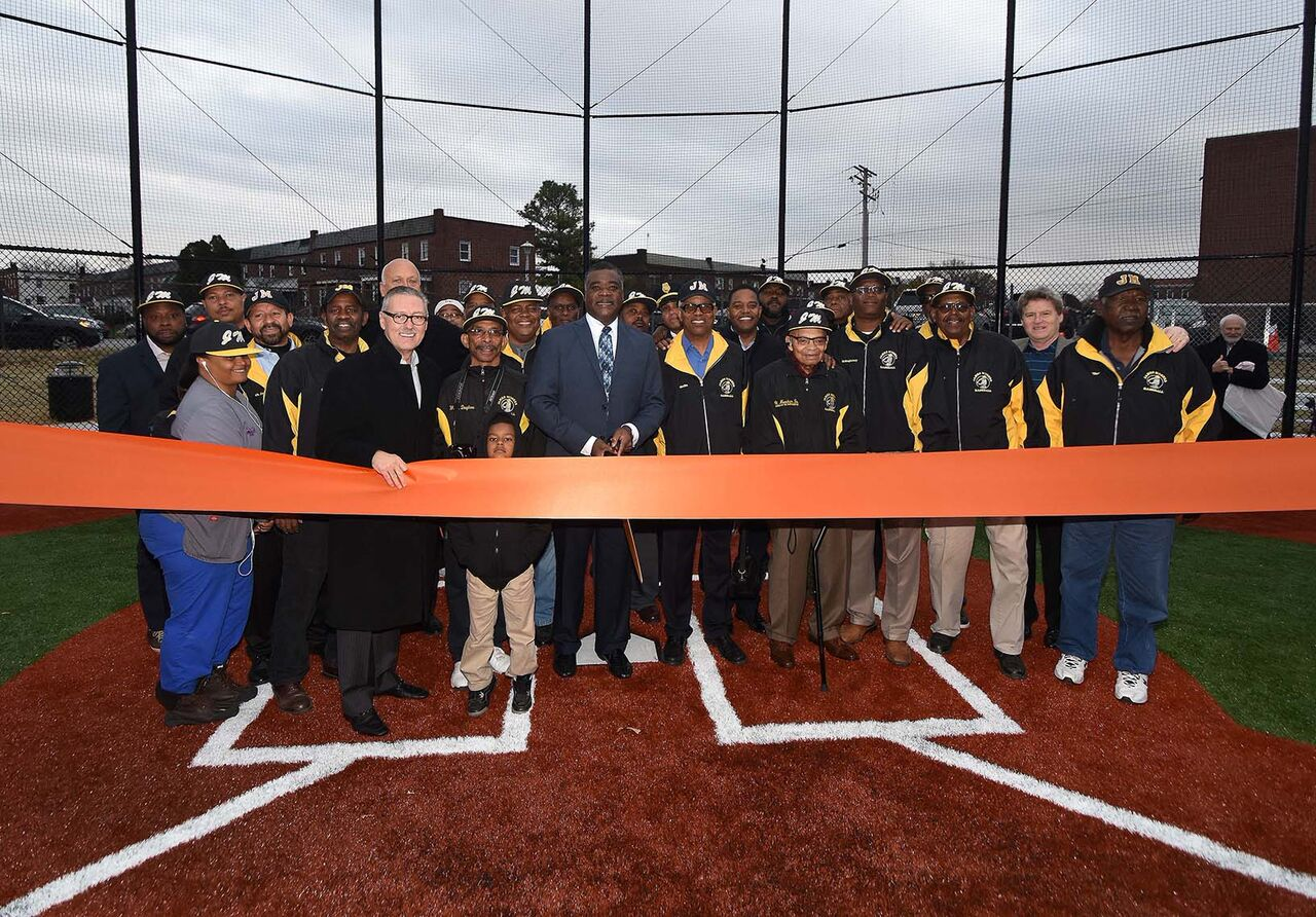Ribbon cutting at Eddie Murray Field