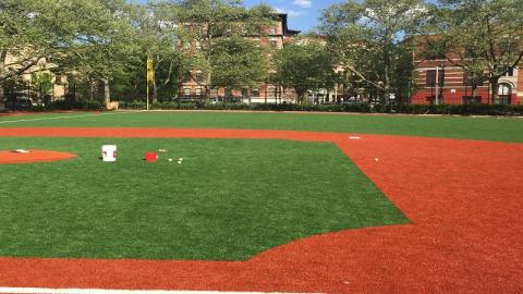 Outfield at the Patterson Playground Youth Development Park