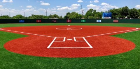baseball field perspective from home plate