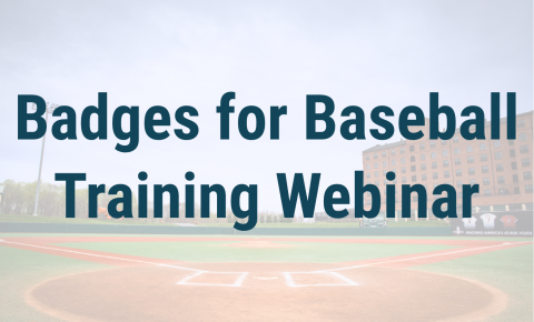 Badges for Baseball Training Webinar Header