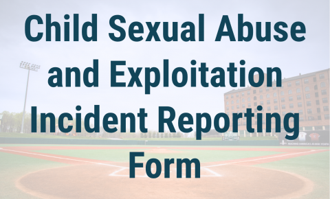 Child Sexual Abuse and Exploitation Incident Reporting Form