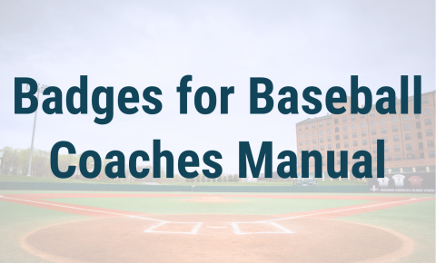 Badges for Baseball Coaches Manual Header