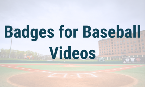 Badges for Baseball Videos Header