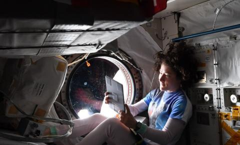 Christina Koch in space