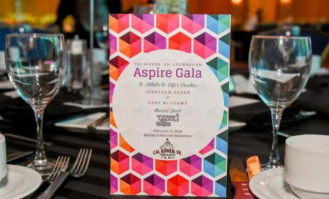 2018 aspire gala table setup
