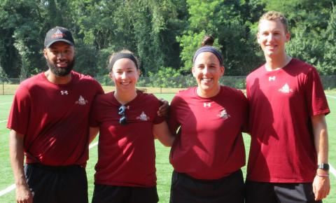 Picture of our four program interns for the summer