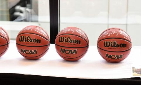 basketballs in a row