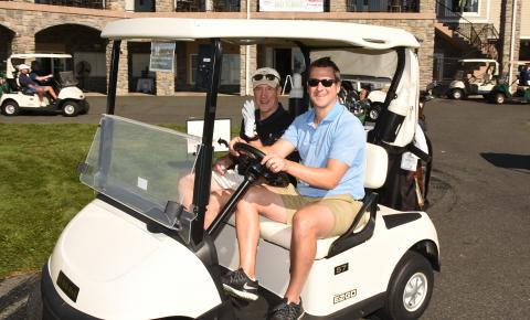two golfers at 2017 crsf golf classic